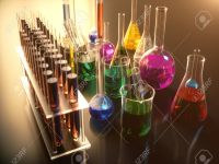 98710190-3d-illustration-of-a-chemical-reaction-the-concept-of-a-scientific-laboratory-on-a-blue-background-f
